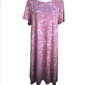 LulaRoe Carly NWOT's xl pink and white patterns